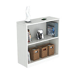 Inval 2 Shelf Bookcase Laricina White