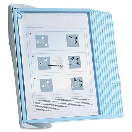 "Sherpa Wall Reference System, 10 Panels, 8 1/2"" x 11"", Clear/Gray/Light Blue"