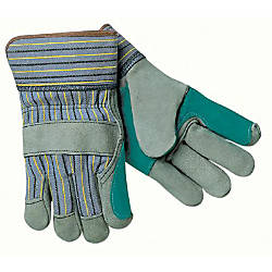 DBL LEATHER PALM GLOVE BLUE W