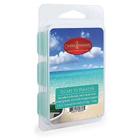 Candle Warmers Etc Wax Melts, Escape To Paradise, 2.5 Oz, Case Of 4 Packs