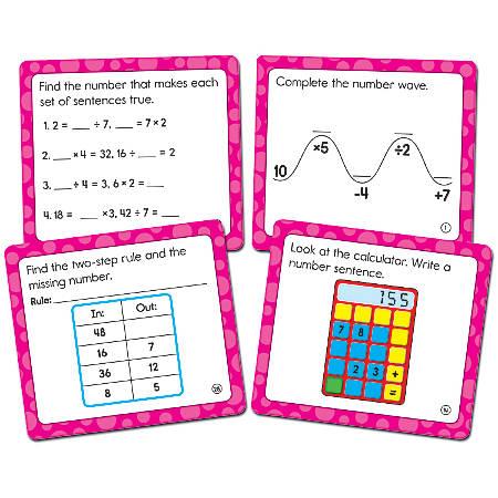 """Carson-Dellosa Math Challenge Curriculum Cut-Outs, 5"""" x 5 1/2"""", Multicolor, Grade 3"""