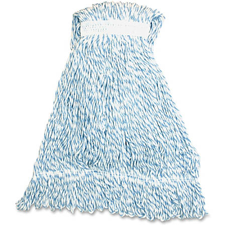 Genuine Joe Blue Stripes Hygrade Rayon Mophead - Rayon