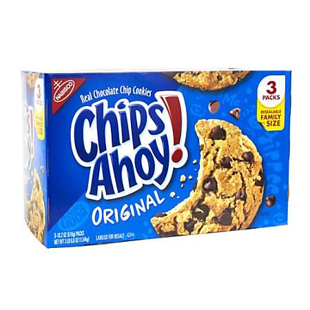 Nabisco Chips Ahoy Cookies, 3.4-Lb Box