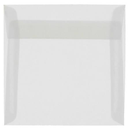 """JAM Paper® Translucent Vellum Invitation Envelopes, 9 1/2"""" x 9 1/2"""", Clear, Pack Of 25"""