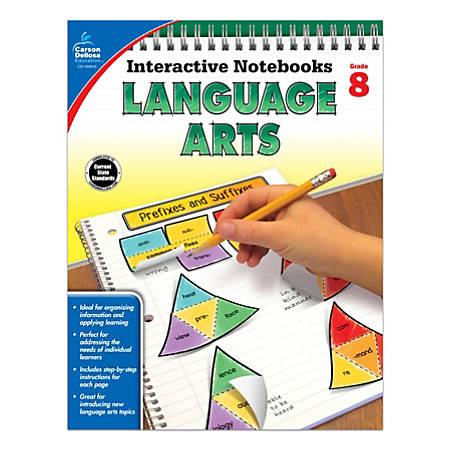 Carson-Dellosa Interactive Language Arts Notebook, Grade 8