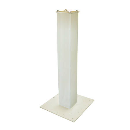 """Mail Boss™ 27"""" Surface Mount Mailbox Post, 27""""H x 4""""W x 4""""D, White"""
