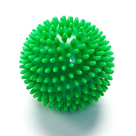 Black Mountain Products Deep-Tissue Massage Ball With Spikes, Green