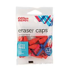 Office Depot Brand Eraser Caps Red