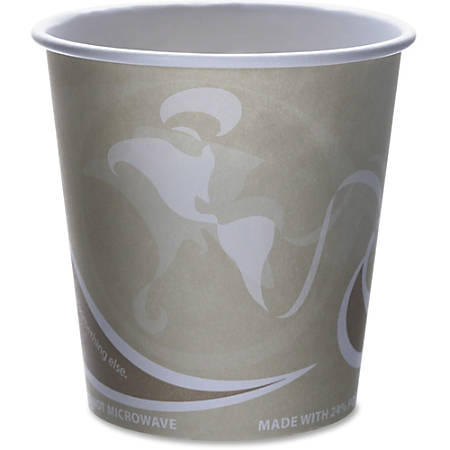 Eco-Products Evolution World PCF Hot Cups, 10 Oz, Tan/White, Pack Of 50