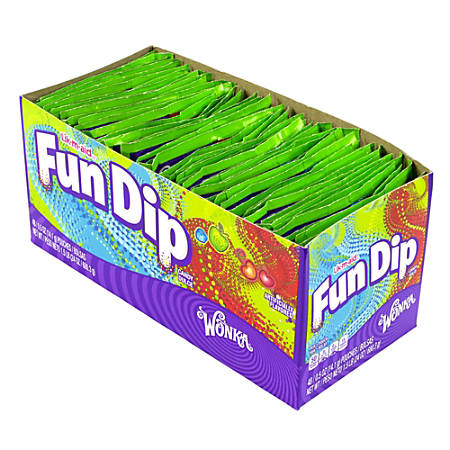 Wonka Lik M Aid Fun Dip, Small, 0.5 Oz, Pack Of 48