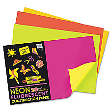 Pacon Neon Construction Paper 12 x