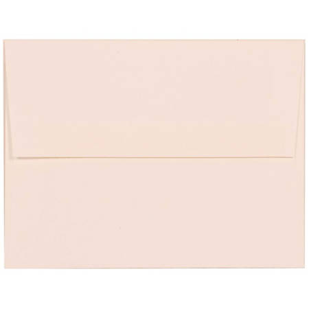 "JAM Paper® Booklet Invitation Envelopes (Recycled), A2, 4 3/8"" x 5 3/4"", 30% Recycled, Strathmore Bright White, Pack Of 25"