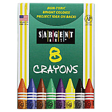 Sargent Art Crayons Tuck Box Of