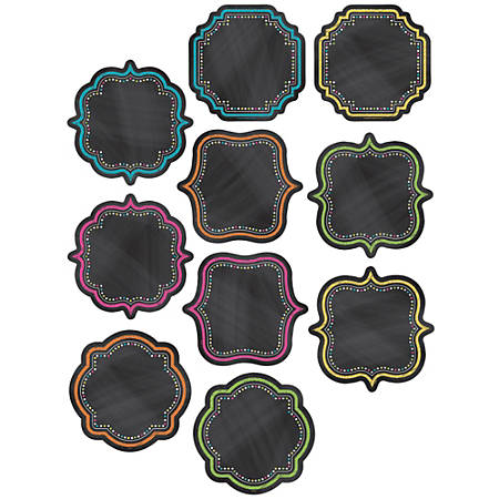 Teacher Created Resources Decorative Accents, Chalkboard Brights, Assorted Colors, Pre-K - Grade 8, Pack Of 36