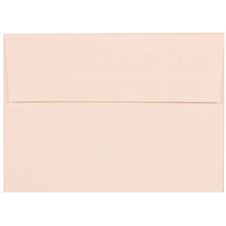 "JAM Paper® Booklet Invitation Envelopes (Recycled), A7, 5 1/4"" x 7 1/4"", 30% Recycled, Strathmore Bright White, Pack Of 25"