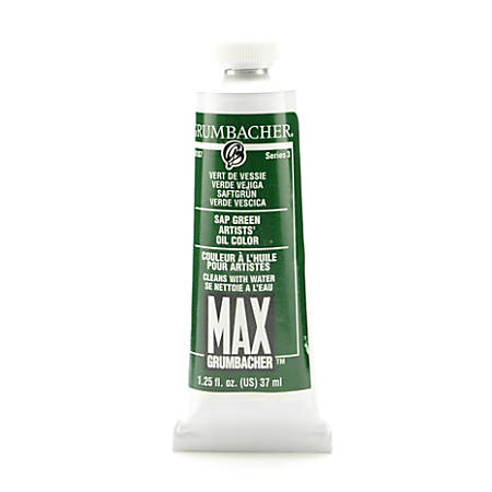 Grumbacher Max Water Miscible Oil Colors, 1.25 Oz, Sap Green, Pack Of 2