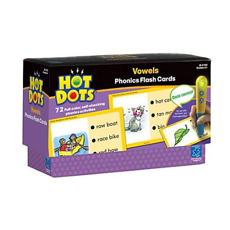 Educational Insights® Hot Dots Phonics Program, Set 3 Vowels, Grades K-5