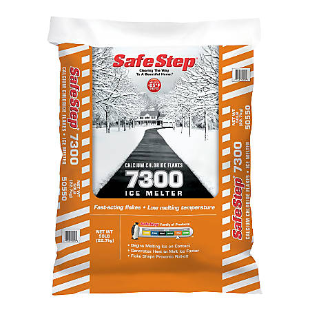 Safe Step 7300 Calcium Chloride Ice Melt, 50 lb, Pallet Of 48