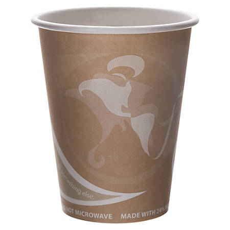 Eco-Products Evolution World PCF Hot Cups, 8 Oz, Peach, Pack Of 50