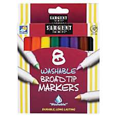 Sargent Art Washable Markers Broad Tip