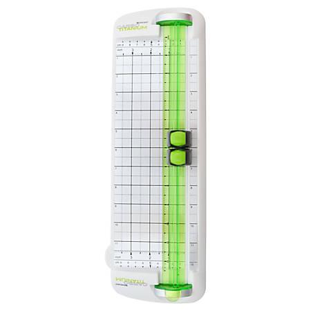 "Westcott® Carbo Titanium Personal Paper Trimmer, 12"", Green"
