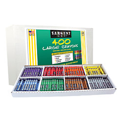 Sargent Art Large Crayons, Box Of 400
