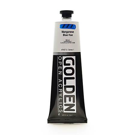 Golden OPEN Acrylic Paint, 5 Oz Tube, Manganese Blue Hue