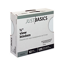 Just Basics Round Ring View Binder