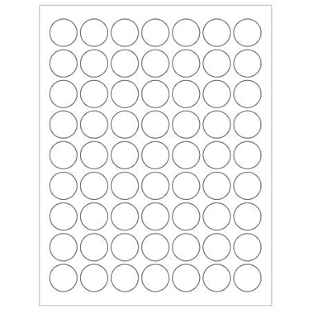"Office Depot® Brand Inkjet/Laser Labels, LL142, Round, 1"", White, Case Of 6,300"