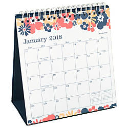 AT A GLANCE Monthly Easel Calendar