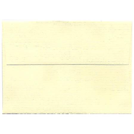 "JAM Paper® Booklet Envelopes (Strathmore Paper), 4 Bar A1, 3 5/8"" x 5 1/8"", Strathmore Ivory, Pack Of 25"