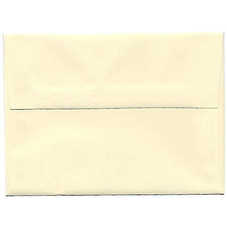 "JAM Paper® Booklet Invitation Envelopes, A6, 4 3/4"" x 6 1/2"", Strathmore, Ivory Laid, Pack Of 25"