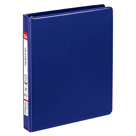 """Office Depot® Brand Nonstick Round-Ring Binder, 1"""" Rings, 64% Recycled, Blue"""