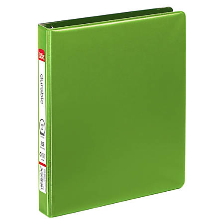 """Office Depot® Brand Nonstick Round-Ring Binder, 1"""" Rings, 64% Recycled, Green"""