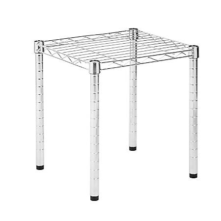 "Honey-Can-Do Urban Wire 15""D Shelving Table, Chrome"