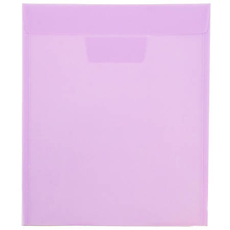 "JAM Paper® Plastic Envelopes With Tuck Flap Closure, 9 7/8"" x 11 3/4"", Lilac Purple, Pack Of 12"