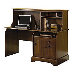 Sauder Graham Ridge Computer Desk With Hutch European Oak by