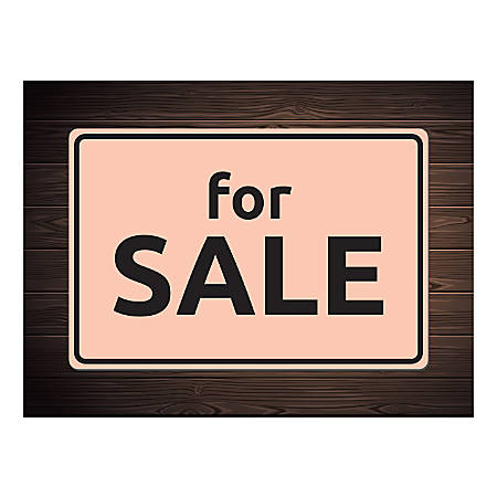 Plastic Sign, For Sale Brown, Horizontal