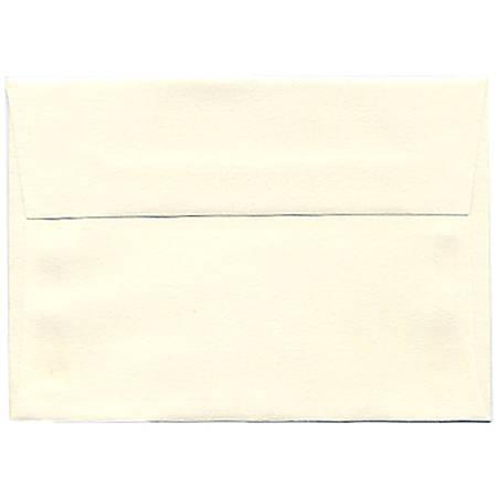 "JAM Paper® Booklet Envelopes (Strathmore Paper), 4 Bar A1, 3 5/8"" x 5 1/8"", Strathmore Natural White, Pack Of 25"