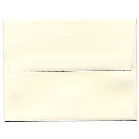 "JAM Paper® Booklet Invitation Envelopes, A2, 4 3/8"" x 5 3/4"", Strathmore Natural White, Pack Of 25"
