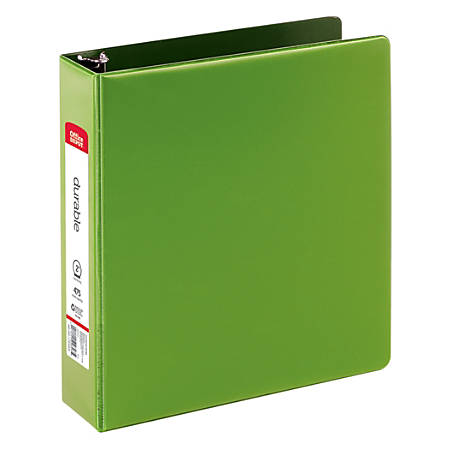 "Office Depot® Brand Nonstick Round-Ring Binder, 2"" Rings, 64% Recycled, Dark Green"