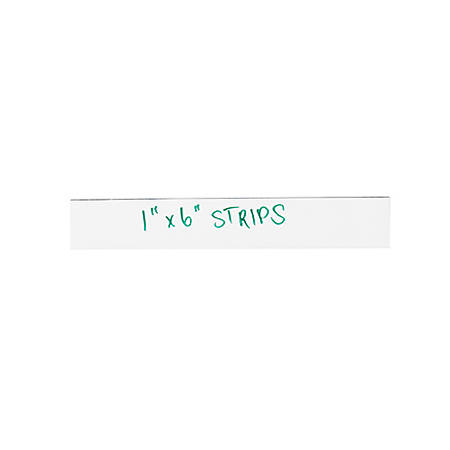 """Partners Brand White Warehouse Labels, LH172, Magnetic Strips 1"""" x 4"""", Case of 25"""