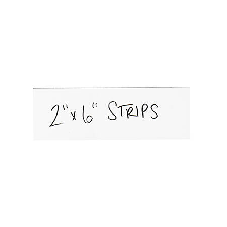 """Partners Brand White Warehouse Labels, LH178, Magnetic Strips 2"""" x 6"""", Case of 25"""