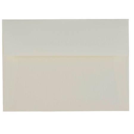 "JAM Paper® Booklet Invitation Envelopes, A7, 5 1/4"" x 7 1/4"", Strathmore Natural White, Pack Of 25"