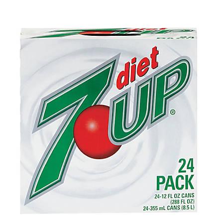 Diet 7-Up Soda, 12 Oz., Case Of 24