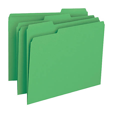 Smead® Color File Folders, Legal Size, 1/3 Cut, Green, Box Of 100