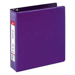 """Office Depot® Brand Nonstick Round-Ring Binder, 2"""" Rings, 64% Recycled, Purple"""