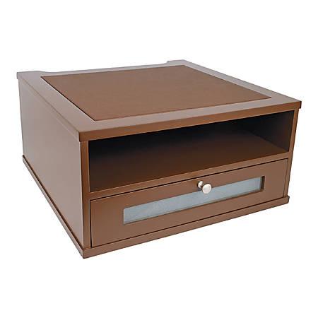 "Victor® Monitor Riser, 6 1/2""H x 13""W x 13""D, Mocha Brown"