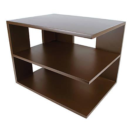 "Victor® Mocha Brown Collection™ Corner Shelf, 13 1/2""H x 13 1/2""W x 10 1/2""D, Brown"