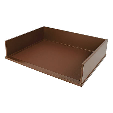 """Victor® Stacking Letter Tray, 3 1/5""""H x 10 11/16""""W x 13 1/4""""D, Mocha Brown"""